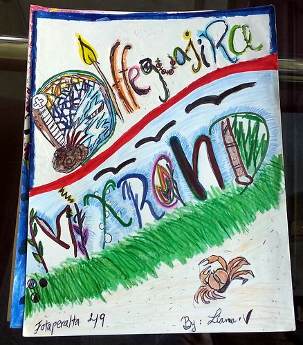 "Middle Schooler Liana Velazquez and her zine She named her zine ""Diffeguajira Mixrand"""