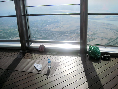 Yoga on the Burj Khalifa