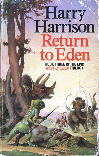 Return to Eden by Harry Harrison. Grafton 1989. Cover artist Gino D'Achille