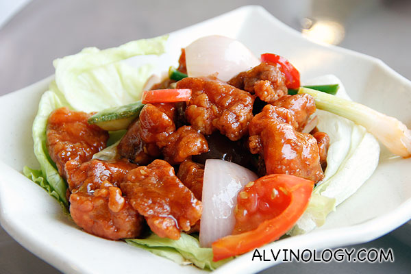 Sweet and sour pork (S$12)