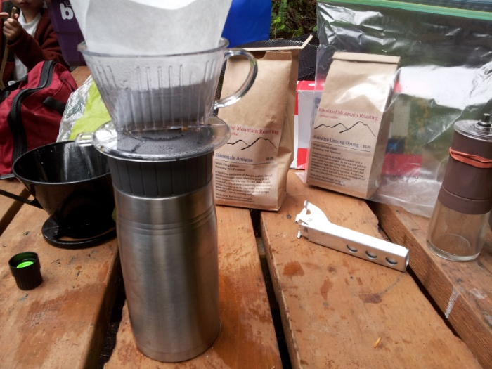 Camping coffee, a Guat and a Sumatran from my favorite roaster