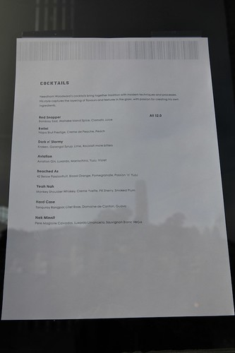 Waiheke Island Yacht Club Cocktail Menu