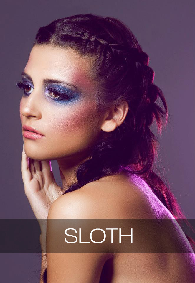sloth, make up deadly sins, 7 deadly sins, makeup, cosmetics, beauty, zelanthropy