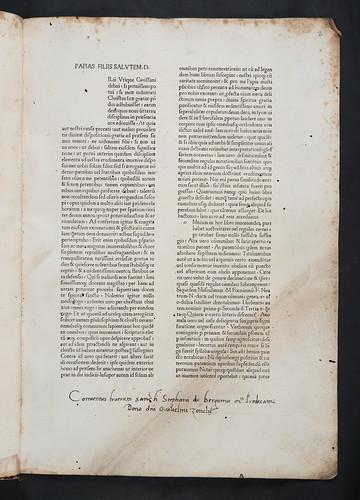 Manuscript donation inscription in Papias: Vocabularium
