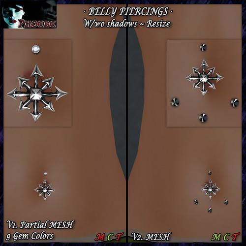*P* Kaos Star Belly Piercings (P-MESH)