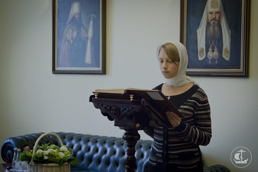 14 августа 2013, Литургия в день Происхождения честных древ Животворящего Креста и заключительный день вступительных экзаменов на бакалавриат и иконописное отделение