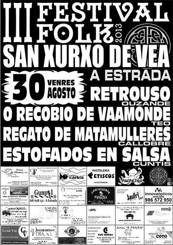A Estrada 2013 - Festival Folk de San Xurxo de Vea - cartel