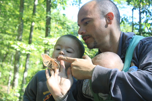 Camping at Prince William Forest Park - Carter's Pond - Ryan Shows Sagan Moth's Real Eyes