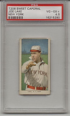 Joe Lake T206 Sweet Caporal New York Highlanders