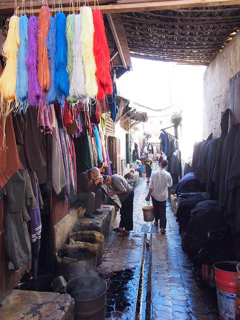 Fes古城的商店街