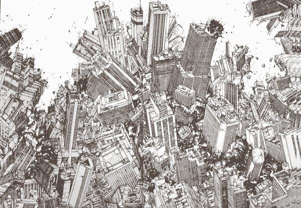『AKIRA』の3巻の大爆発シーンの描き込み