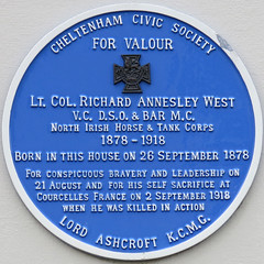Photo of Richard Annesley West blue plaque