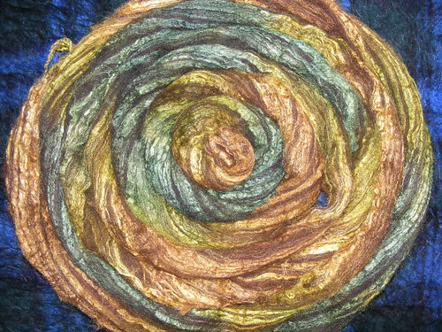 FAlling Leaves, black bfl silk