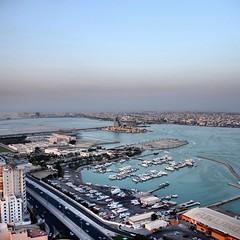 #Funland #Bahrain #picture taken from atop a #skyscraper on #exhibition #road #marina #club