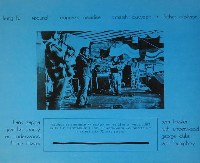 Frank Zappa Piquantique Stockholm 1973 Prog Rock Jazz Lp