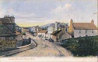 postcard  - lundin mill from wynd well fife