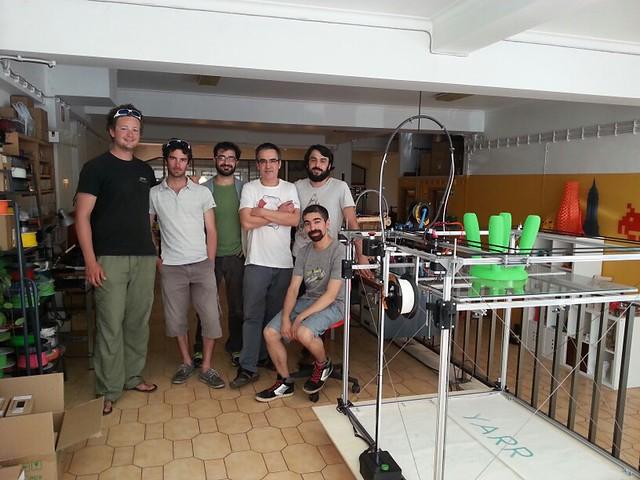 visiting Leds&Chips : huge 3D printer: the YARR