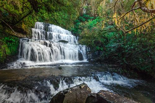 new water creek landscape waterfall stream outdoor zealand serene