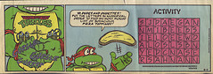 TEENAGE MUTANT NINJA TURTLES { newspaper strip } ..Mikey's Stomach ; ..art by Lawson  :: 08111991