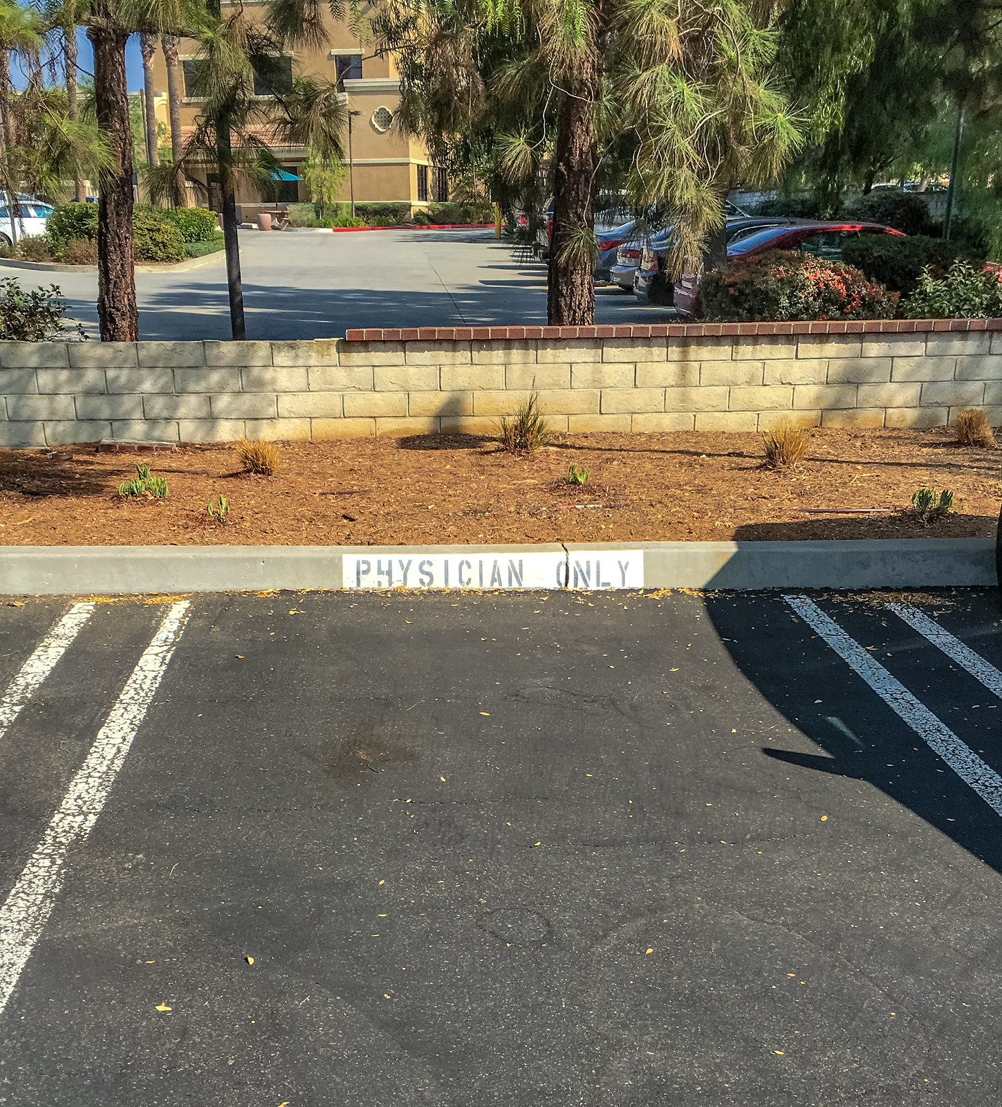 Physician parking spot Kaiser Permanente San Dimas California 3235