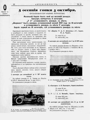 1910-10-03. 5-е осенние гонки. Химки