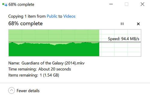 ความเร็วในการดาวน์โหลดไฟล์จาก WD My Cloud PR2100