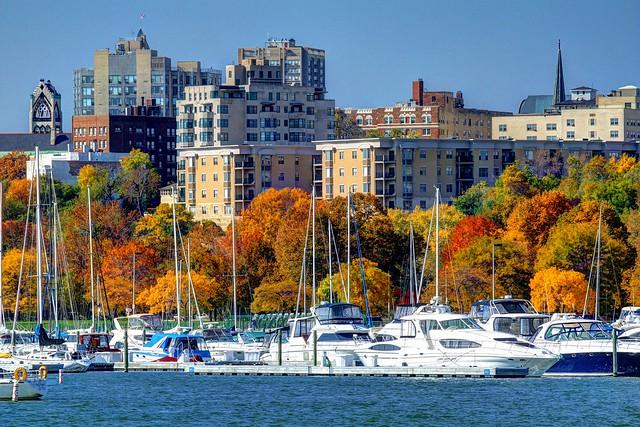 Fall Colors, Lakefront at McKinley Marina