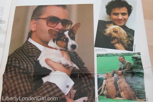 Karl Lagerfeld & Azzedine Alaia in W magazine 1987