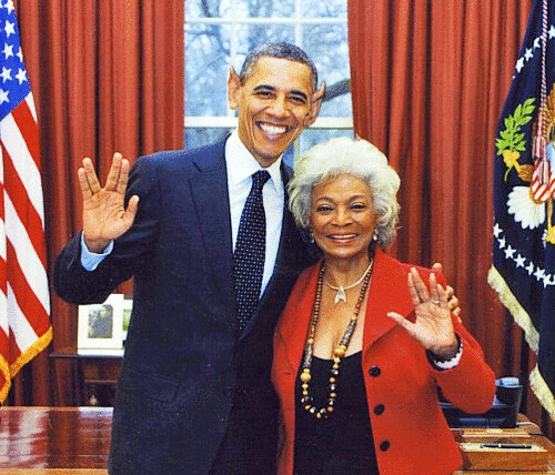Vulcanology--Not Just For Volcanoes Anymore!  Pres. Obama and Lt. Uhura
