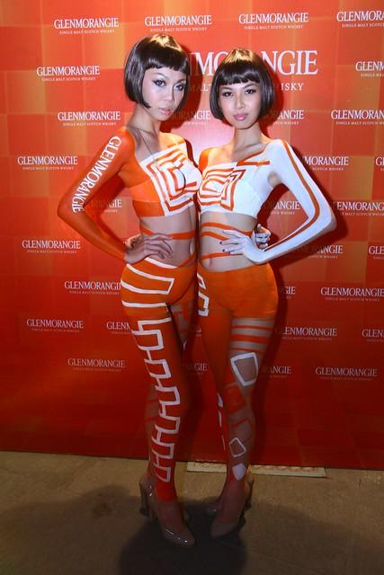 GMG29_Glenmorangie ambassadors sporting Orange bodypaint