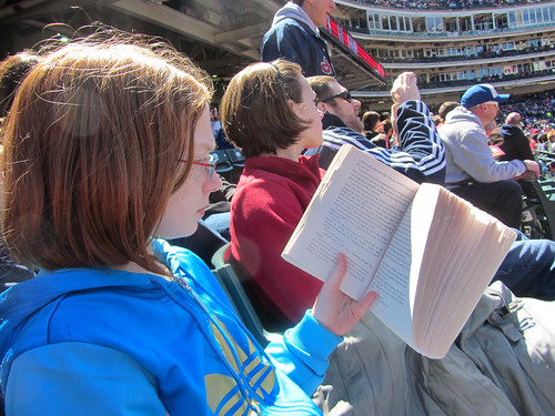 Reading at the game