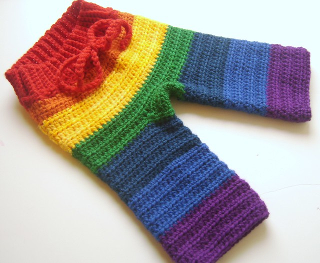 ROYGBIV True Rainbow Newborn Crocheted Longies