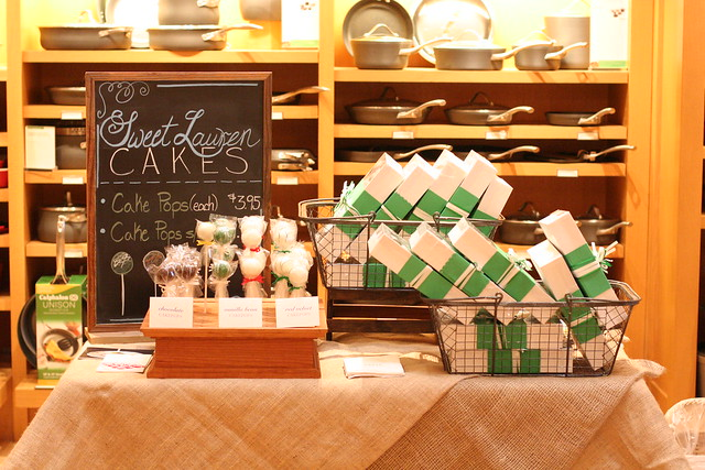 Cake Pops at the March Williams Sonoma Artisans' Market