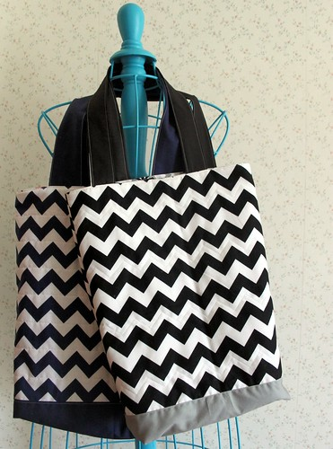 Quilted Chevron Tote Bags