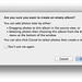 iPhoto - Are you sure you want to create an empty album?