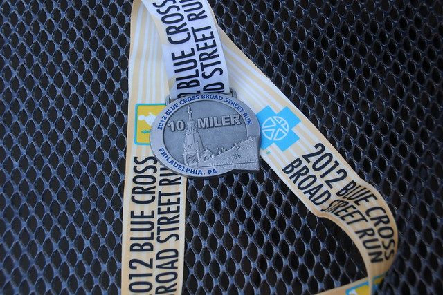 2012 Broad Street Run Medal