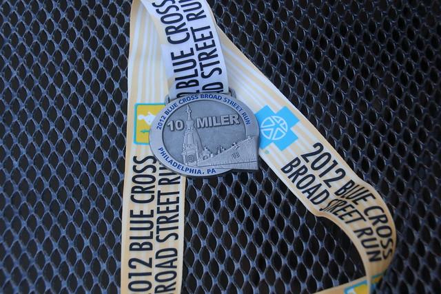 2012 Broad Street Run Medal