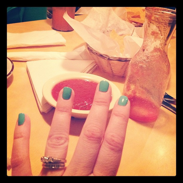 Mani and pedi followed by Mexican food with my aunt, sister, and cousin!