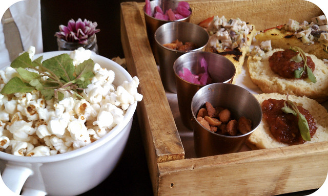 Pork Fried Popcorn + Tea Platter