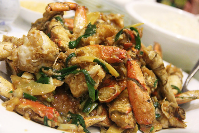 Chinese stir fried crab