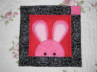 Bunny mug rug