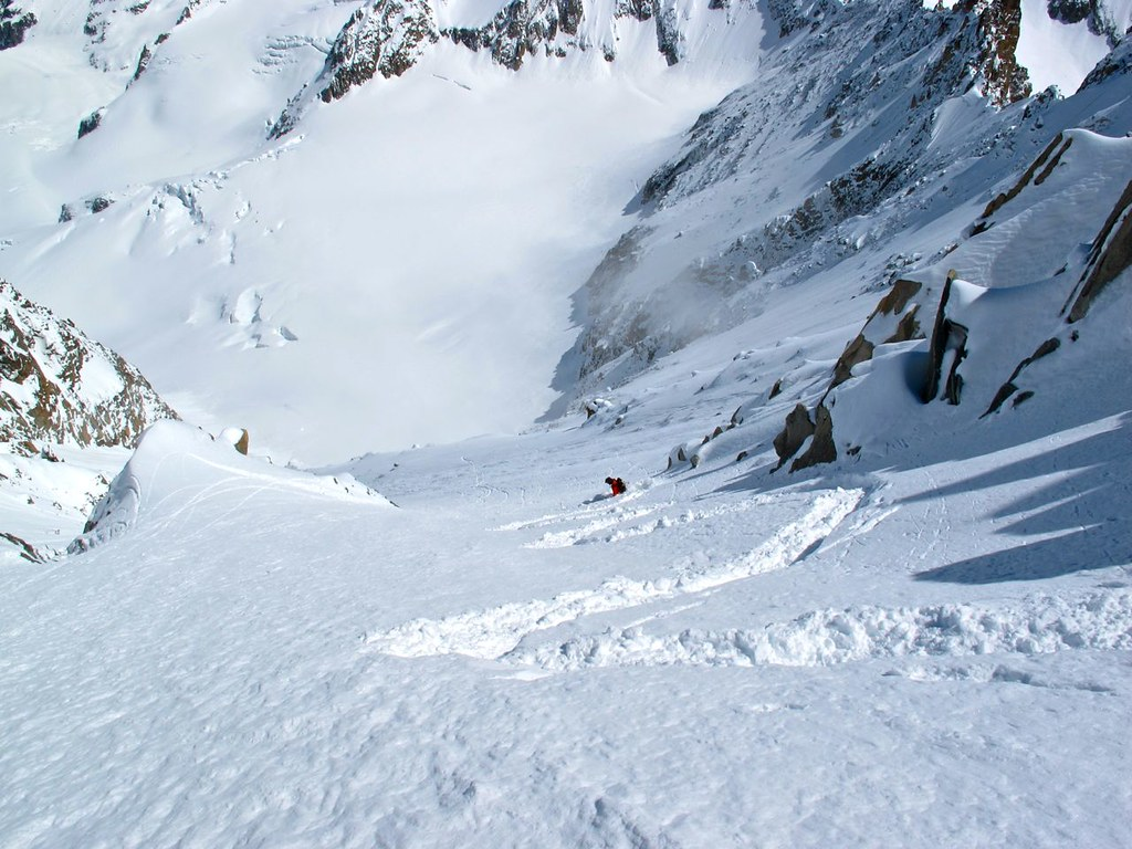 Jamie Bond Skiing the Classic Barbey Couloir