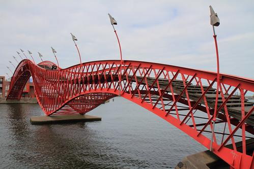 """Le """"Pont Python"""" - Pont Rouge - Amsterdam - Pays-Bas"""