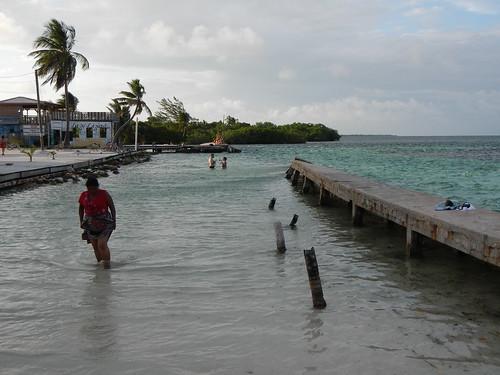 Hurricane damaged sea barrier