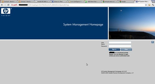 HP System Management Homepage Login