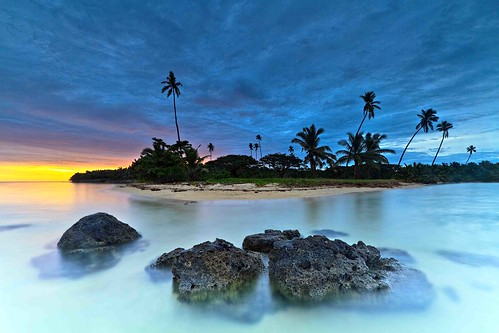 seascape fiji sunrise