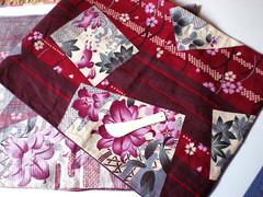 Making yukata(a casual kimono for summer)