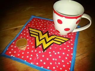 Wonder Woman mug rug