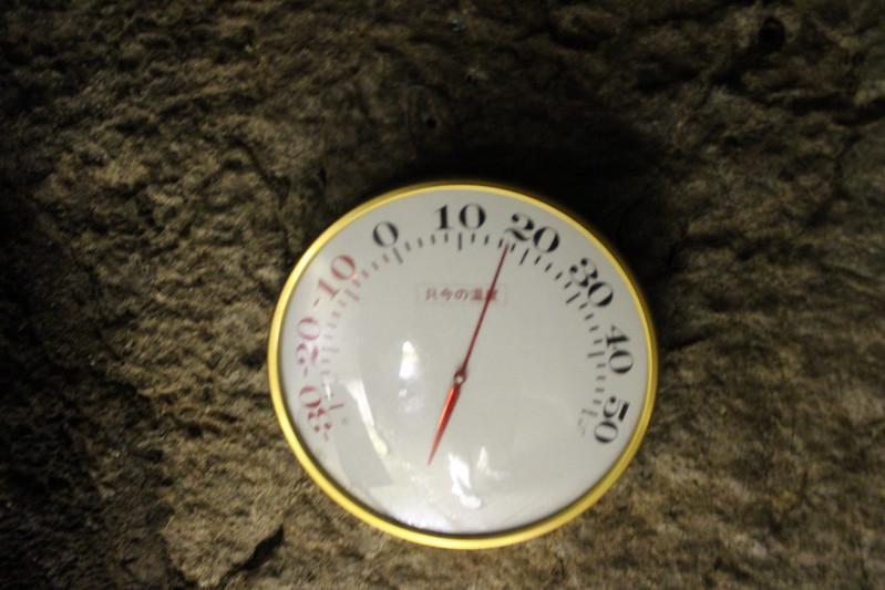 龍河洞内の温度