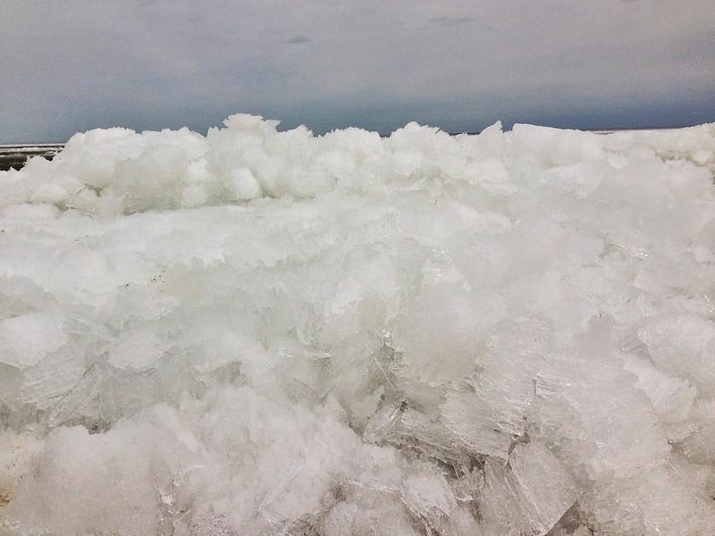 cold Lake Winnipeg ice